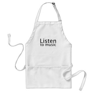 Escuche la música delantal