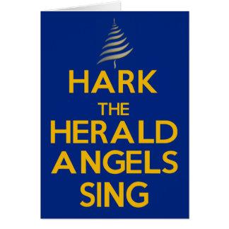 Escuche los ángeles de The Herald cantan - el azul Tarjeta De Felicitación