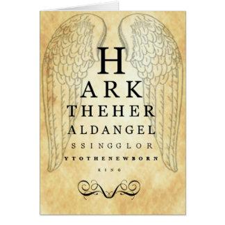 Escuche los ángeles de The Herald cantan el coche  Tarjeta De Felicitación