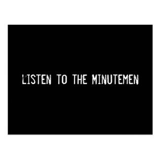 escuche los Minutemen Tarjetas Postales