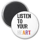 Escuche su corazón imanes