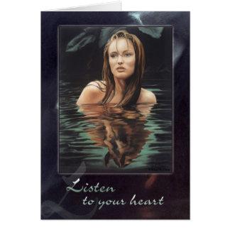 Escuche su corazón tarjetas