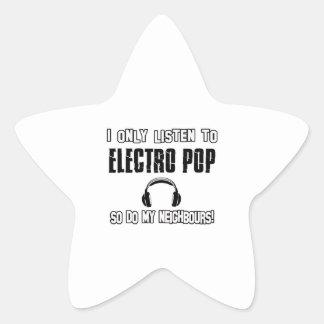 Escucho solamente el ELECTRO POP Pegatina En Forma De Estrella
