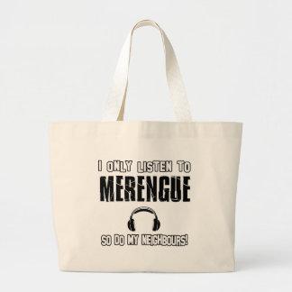 Escucho solamente MERENGUE Bolsa De Mano
