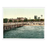 Escúdese en la playa y el puente, Colberg, Pommera Postal