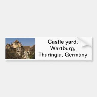 Escúdese la yarda, Wartburg, Thuringia, Alemania Pegatina De Parachoque