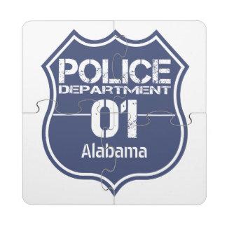 Escudo 01 del Departamento de Policía de Alabama Posavasos De Puzzle