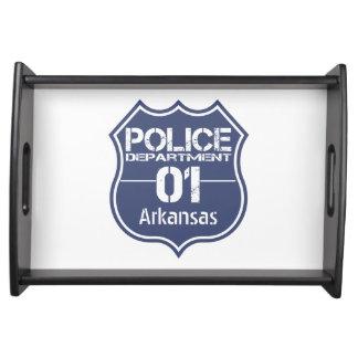 Escudo 01 del Departamento de Policía de Arkansas Bandeja