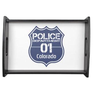 Escudo 01 del Departamento de Policía de Colorado Bandejas
