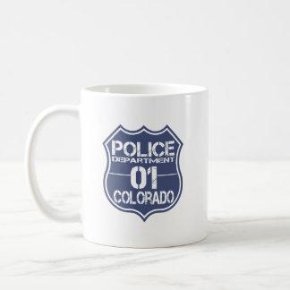 Escudo 01 del Departamento de Policía de Colorado Taza De Café