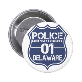 Escudo 01 del Departamento de Policía de Delaware Chapa Redonda 5 Cm