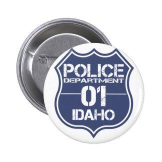 Escudo 01 del Departamento de Policía de Idaho Chapa Redonda 5 Cm