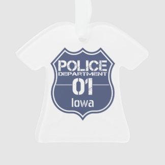 Escudo 01 del Departamento de Policía de Iowa