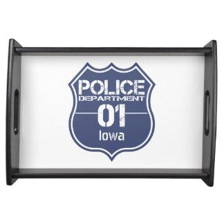 Escudo 01 del Departamento de Policía de Iowa Bandeja