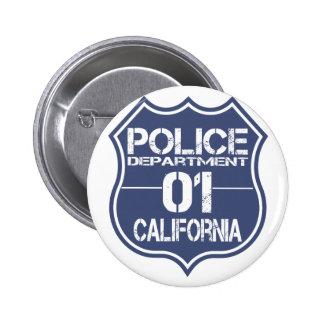Escudo 01 del Departamento de Policía de Chapa Redonda 5 Cm