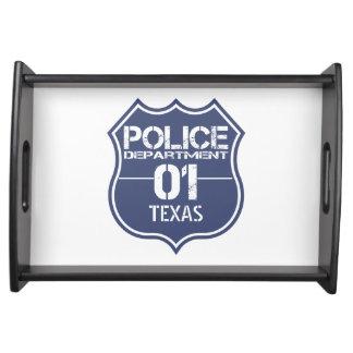 Escudo 01 del Departamento de Policía de Tejas Bandejas