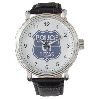 Escudo 01 del Departamento de Policía de Tejas Relojes