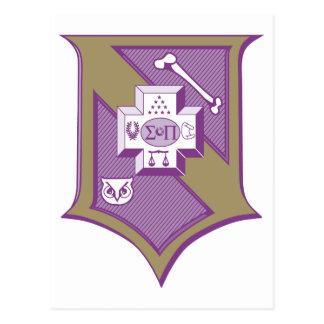 Escudo 2-Color de la sigma pi Postales