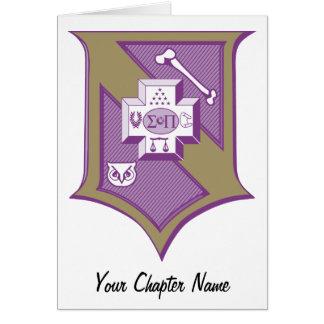Escudo 2-Color de la sigma pi Tarjeta De Felicitación