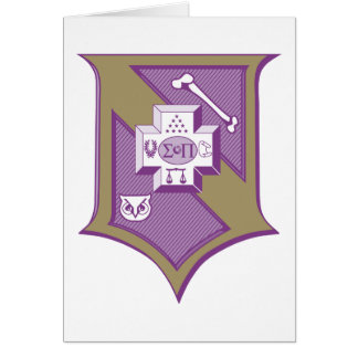 Escudo 2-Color de la sigma pi Tarjeta Pequeña