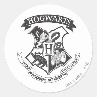 Escudo 2 de Hogwarts Pegatina Redonda