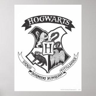 Escudo 2 de Hogwarts Póster