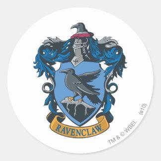 Escudo 2 de Ravenclaw Pegatina Redonda