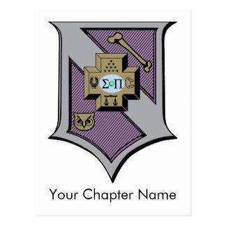 Escudo 4-Color de la sigma pi Postal