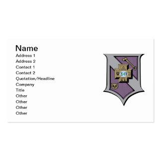 Escudo 4-Color de la sigma pi Tarjetas De Visita