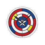 Escudo abstracto de capitán América de Stijl Reloj Redondo Mediano