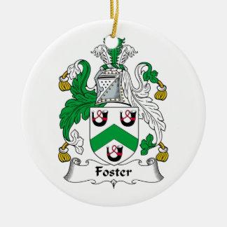 Escudo adoptivo de la familia adorno redondo de cerámica