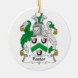 Escudo adoptivo de la familia ornamento de navidad