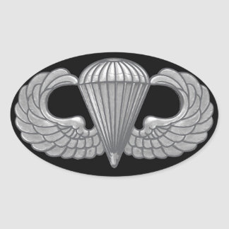 Escudo aerotransportado pegatina ovalada