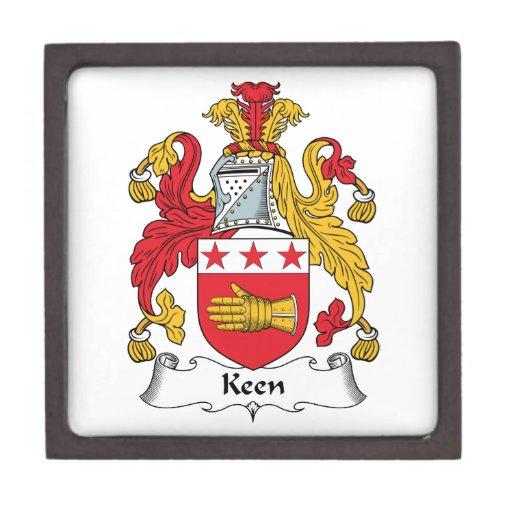 Escudo afilado de la familia caja de joyas de calidad