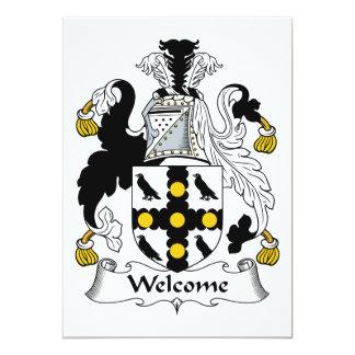 Escudo agradable de la familia invitación personalizada