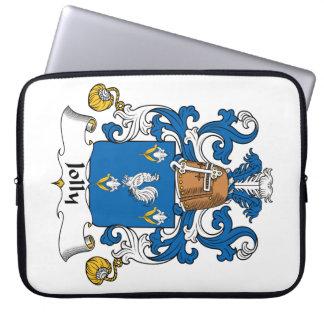Escudo alegre de la familia fundas portátiles