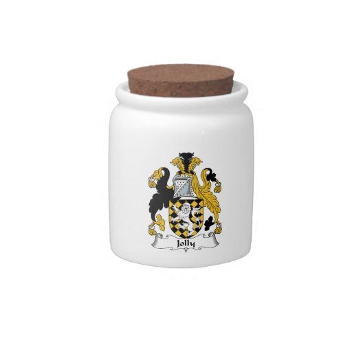 Escudo alegre de la familia jarra para caramelo