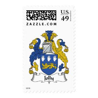Escudo alegre de la familia sello