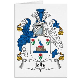 Escudo alegre de la familia tarjeta de felicitación