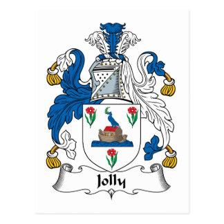 Escudo alegre de la familia tarjetas postales