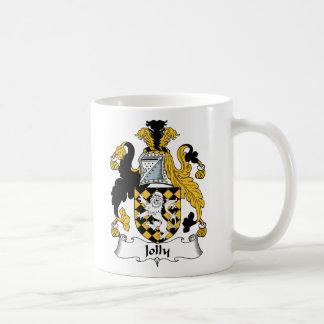 Escudo alegre de la familia taza de café