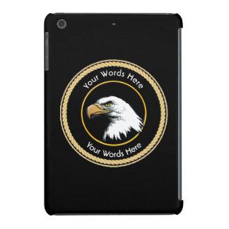 Escudo americano de la cuerda de Eagle calvo Fundas De iPad Mini