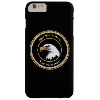 Escudo americano de la cuerda de Eagle calvo Funda Para iPhone 6 Plus Barely There
