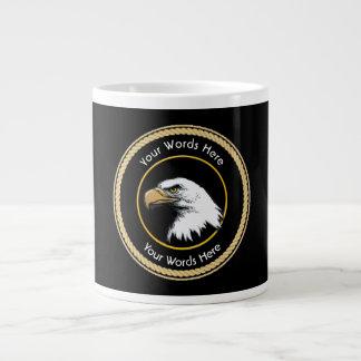Escudo americano de la cuerda de Eagle calvo Taza Grande