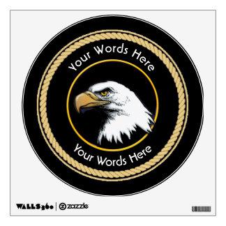 Escudo americano de la cuerda de Eagle calvo Vinilo