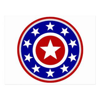 Escudo americano de la estrella postal
