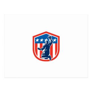 Escudo americano de la parte posterior de la clava postales