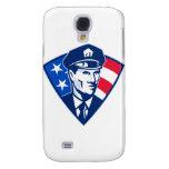Escudo americano de la seguridad del oficial de po