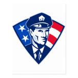 Escudo americano de la seguridad del oficial de postal