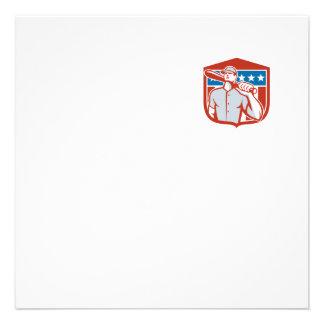 Escudo americano del palo del talud del béisbol anuncio personalizado